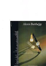 PUBLICITE  1979   ALEXIS  BARTHELAY   les montres à QUARTZ découvrent un style