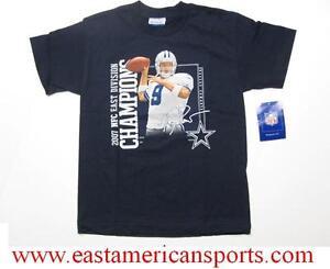 Dallas Cowboys NFL Reebok Tony Romo 9 Signature Shirt 2007 NFC Div Champions S