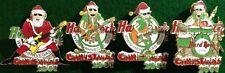 Hard Rock Hotel LAS VEGAS 2001 CHRISTMAS 4 PIN Set - Santa & 3 Elves Band #21737