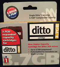 DITTO 3.7GB EXPANDED CAPACITY CARTRIDGES FOR DITTO 2GB-PREFORMATTED-*LOT OF 3**
