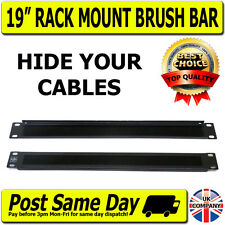"Cable Management Brush Tidy Bar 1U 19"" Network Rack For Switch Hub Patch Panels"