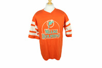 """Vintage 1980s Miami Dolphins T-Shirt Size L Large Mens 42"""" Made In USA Logo 7"""