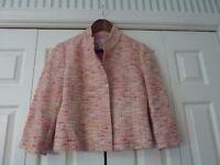 LILLY PULITZER Size 2 Pink Tweed Boucle Jacket Coat EUC