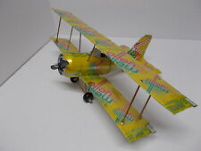 Aluminum soda can handcrafted airplane/ MELLOW YELLOW-OLD /BI-PLANE