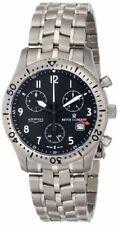 Revue Thommen Airspeed Chronograph Titanium Black Dial Men's Watch 16001.9197