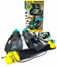 NEW US Divers Adult Snorkeling/Snorkelling Set Mask+Snorkel+Fins GoPro Ready
