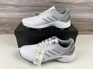 NEW Men's Adidas ZG21 Golf Shoes White Silver Grey   size 12   FW5545 NWB