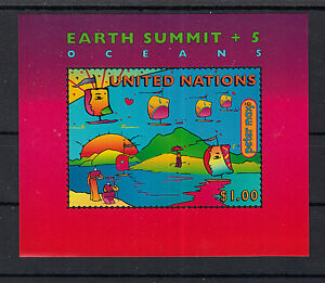 UNO UN New York 1997 - Earth Summit Environment Oceans  / Mint Never Hinged