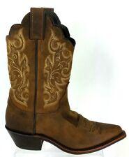 Justin Womens Classic Western Snip Toe Cowboy Boots Bay Apache L4933 Sz 5.5 D
