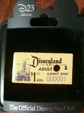 D23 DISNEY pin 1955 1st Day Admission Ticket Disneyland Very Rare FREE SHIP