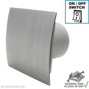 """150mm 6"""" Silver Extractor Fan Bathroom Kitchen Standard Switch Escudo WES150"""