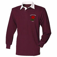 England 1871 Retro Rugby Jersey Shirt Style 6 Nations 2017 Men Supporters Top L2