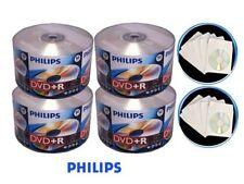 200 PHILIPS Logo 16X DVD+R DVDR Blank Disc 4.7GB + 200 Paper Sleeves