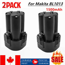 2× 10.8V 1.5Ah Battery for Makita BL1013 BL1014 194550-6 DF030D Cordless Tool CA