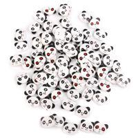Panda Gesicht Farbige Zeichnung Holz Tasten Zum Nähen Diy Handwerk 100 Stücke