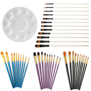 10/12x Kit Artist Painting Brushes Set Watercolour Acrylic Oil Face Paint Craft