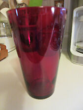 Pretty Red Glass Vase Perfect for Valentine's Christmas Flowers