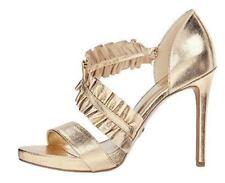 Michael Kors Womens Leather Gold Metallic Bela Platform Pump 7 1/2