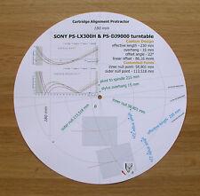 Sony PS-LX300H & Sony PS-DJ9000 personalizzato progettato BRACCIO allineamento Goniometro