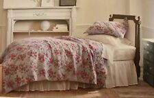 Simply Shabby Chic Purple Rose Linen/ Cotton Quilt New Twin Rachel Ashwell