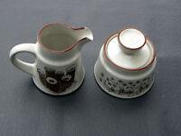 NORITAKE stoneware DESERT FLOWERS pattern Creamer & Lidded Sugar Bowl Set