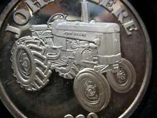 1-OZ  RARE JOHN DEERE TRACTOR MODEL 8400  ENGRAVABLE .999  SILVER COIN GOLD