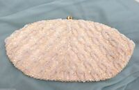 Vintage Purse Pretty Beaded Evening Bag Clutch 1950s Aurora Borealis