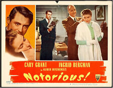 ALFRED HITCHCOCK'S NOTORIOUS CARY GRANT LOBBY CARD, 1946