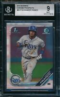 BGS 9 WANDER FRANCO 1st 2019 Bowman Chrome Tampa Bay Rays Rookie Card RC MINT