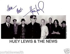 HUEY LEWIS Hand Signed 8 x 10 Color Photo. Signed Steve. Authentic