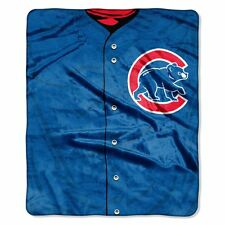 Chicago Cubs 50x60 Plush Raschel Throw Blanket - Jersey Design [NEW] MLB