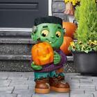 Frankensteins Monster Greeter LED Lighted Pumpkin Prop Indoor Outdoor Halloween