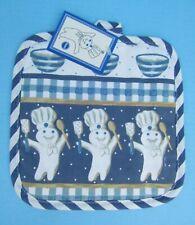 1997 Pillsbury Doughboy Poppin' Fresh Blue/white Pot Holder