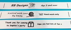50 Sew In Handicraft Labels: Great for soft toys, clothing etc.
