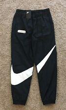 New! Nike NSW Big Swoosh Woven Pants Black/White MEDIUM tech fleece AR9894 010