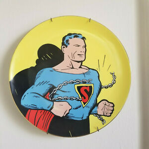 SUPERMAN 50th Birthday MAN OF STEEL COLLECTOR'S PLATE SIGNED #109 statue