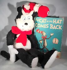 """2003 Plush 24"""" Cat in the Hat & 1958 """"The Cat In The Hat Comes Back"""" book"""