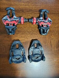 TIME XPRESSO 12 iClic carbon road bike pedals; Ti spindle; Good cond, w/ cleats