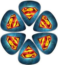 Guitar Picks 6 Pack Universal Plastic for Acoustic and Electric Blue