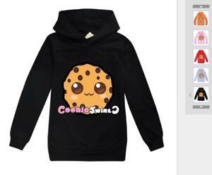 COOKIE SWIRL C Cute Boys Kids Girl Long Cotton Sleeved Sweater Hooded Sweatshirt
