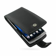 PDair Leather Flip Type Case Cover for Sony Ericsson Xperia Arc X - Black