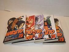 SJ Naruto Masashi Kishimoto Books Set of 5 Volumes 25 - 29 Very Cool