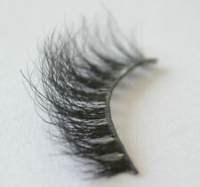 100% Real Mink Fur 3D False Eyelashes Messy Natural Cross Fake Miami Lashes