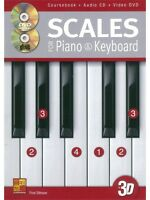 Fred Stinson Scales For Piano And Keyboard CD DVD Learn to Play MUSIC BOOK & CD