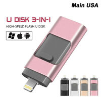 256GB 128GB USB Flash Drive Memory Stick U Disk for OTG Android / iPhone 7 6S PC