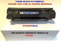 3 TONER COMPATIBILI PER STAMPANTE LASER HP LASERJET P1102 CARTUCCIA CE285A 85A