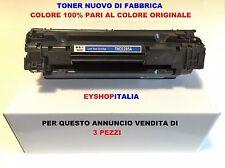 3 TONER COMPATIBILI PER STAMPANTE LASER HP LASERJET Pro M113 CARTUCCIA CE285A85A