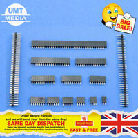 """10 x Female Or Male Header Pins Strip 0.1"""" 2.54mm for Breadboard PCB for Dupont"""