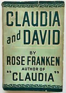 1943 1st Claudia And David by Rose Franken, free EXPRESS Worldwide