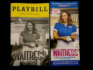WAITRESS Broadway Musical Closing Playbill & Flyer. Katharine McPhee, Dec 2019